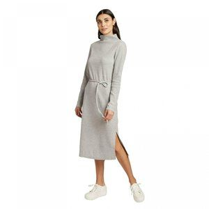 NWT A New Day Belted Knit Midi Dress Large Gray